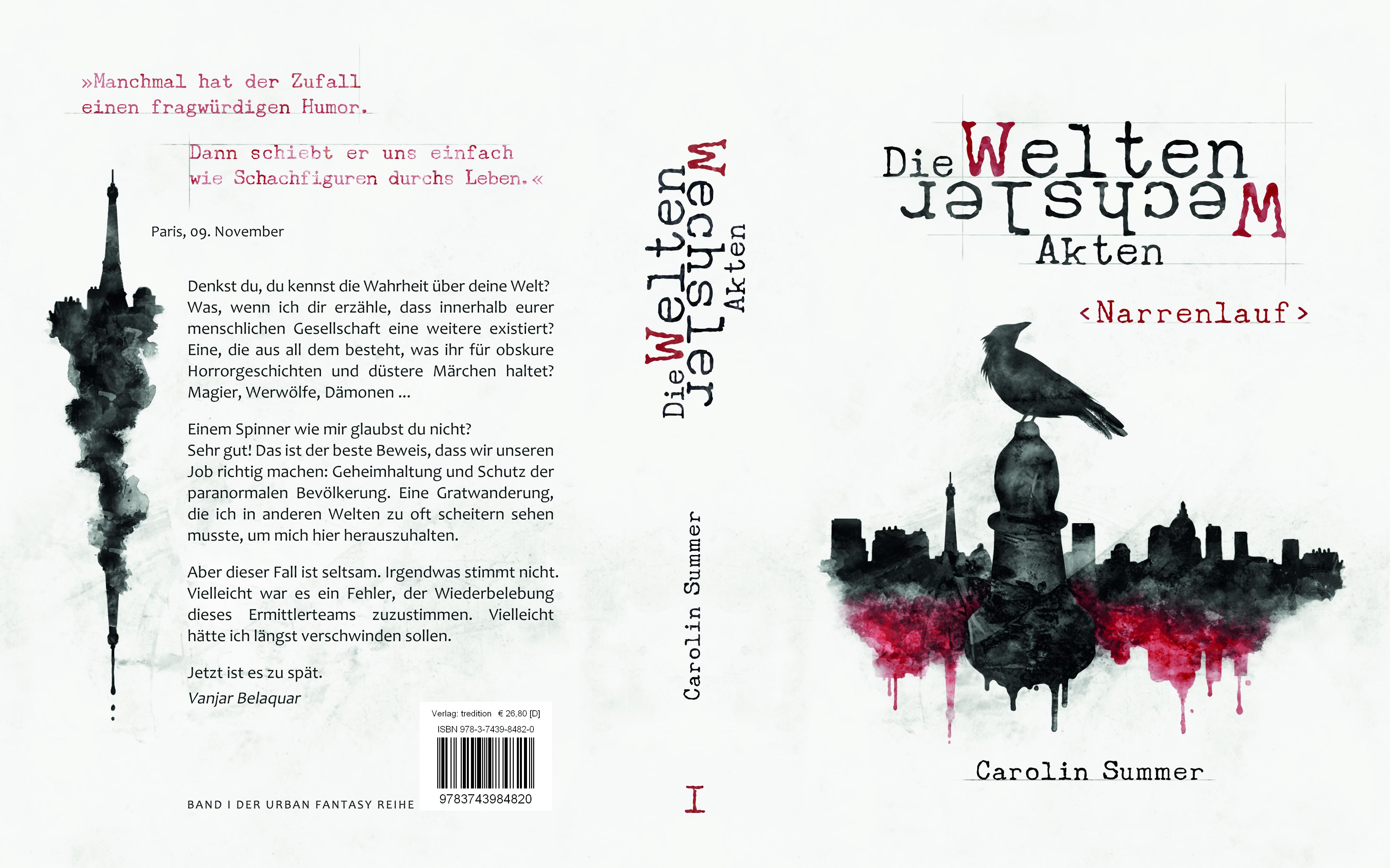Cover Narrenlauf (die WeltenWechsler Akten) Urban Fantasy Roman